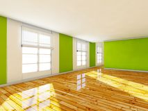 Empty room, 3d house interior Stock Photos