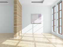 Empty room. 3D image. Illustration Royalty Free Stock Photography