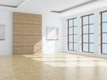 Empty room. 3D image vector illustration