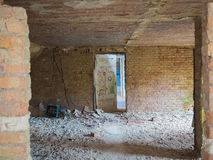 Empty room in an abandoned building Royalty Free Stock Image
