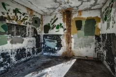 Empty Room in Abandoned Fort Stock Photos