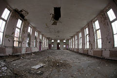 Empty room in abandoned hospital Stock Images