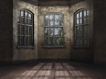 Empty room. In an abandoned house vector illustration