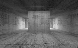 Empty room, abstract concrete interior. 3d illustration Stock Image