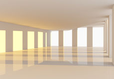 Empty room abstract wall and windows Stock Photography