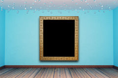 Empty room with antique photo frame Stock Images