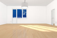 Empty room in apartment Royalty Free Stock Photography