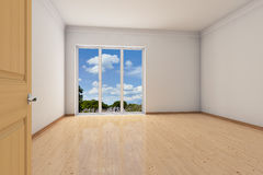 Empty room in an apartment Royalty Free Stock Photo
