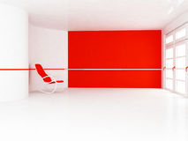 Empty room with an armchair Royalty Free Stock Image
