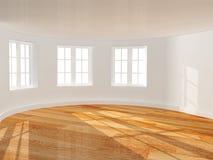 Empty room with bay window Royalty Free Stock Photos
