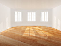 Empty room with bay window Stock Photography