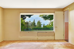 Empty room with beautiful window view Stock Image