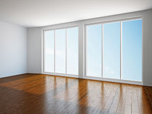 Empty room with window Stock Image