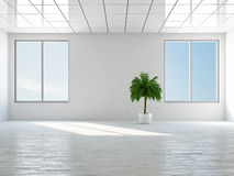 Empty room with window. The empty room with big panoramic window stock illustration
