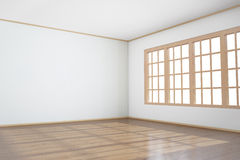 Empty room with big window Stock Photo