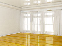 Empty room with a big window Royalty Free Stock Photography