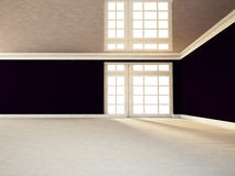 Empty room   with a big window Stock Photography