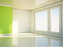 Empty room with a big window Stock Image