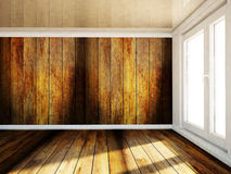 Empty room with a big window Royalty Free Stock Photo