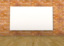 Empty room with a blank canvas Stock Photography