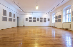 Empty room with blank pictures Stock Photography