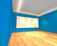 Empty room blue meeting room Stock Image
