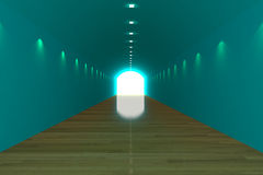 Empty room blue tunnel Royalty Free Stock Photos