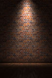 Empty room with brick wall Royalty Free Stock Photos