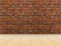 Empty room. brick wall. 3D Royalty Free Stock Images