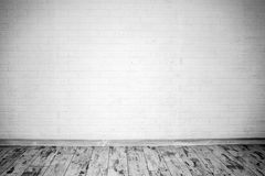 Empty room with brick wall Stock Images