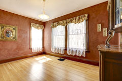 Empty room in bright red color Royalty Free Stock Photography