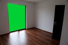 Empty room with chroma key wall Royalty Free Stock Photo