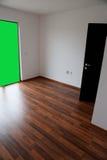 Empty room with chroma key wall Royalty Free Stock Image