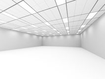 Empty Room Classic Interior With Lights. Architecture Background. 3d Render Illustration Royalty Free Stock Photos