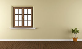 Empty room with closed window Stock Photography