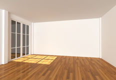 Empty room Color Wall Stock Photo