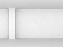 Empty room with column. Empty white room with column stock illustration