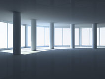 Empty room with columns Royalty Free Stock Image