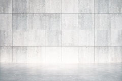 Empty room with concrete floor and wall Royalty Free Stock Photography