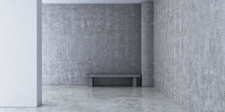 Empty room with concrete walls Stock Image
