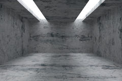 Empty room with concrete walls and opening in ceiling Royalty Free Stock Photos