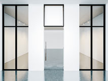 Empty room of contemporary gallery with blank Royalty Free Stock Photography