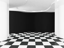 Empty room in contrast colors. Rendering Royalty Free Stock Photo