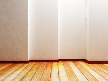 Empty room with a creative wall Royalty Free Stock Images