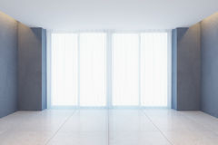 Empty room with curtains on window Stock Photo