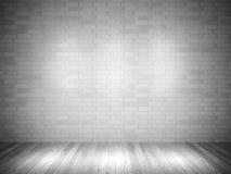 Empty room. 3d brick wall and wood floor Stock Image