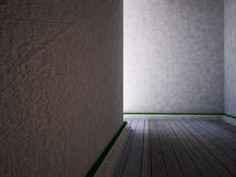 This is the empty room, 3d. Rendering Royalty Free Stock Photos