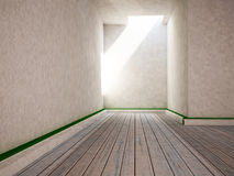 This is the empty room, 3d. Rendering Royalty Free Stock Photo