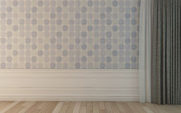 Empty Room With Dacorative Wallpapers 4 Stock Photography
