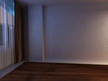 Empty room in dark colors Stock Images